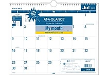 2017-2018 AT-A-GLANCE® 15' x 12' Easy to Read Academic Monthly Wall Calendar, 12 Months (AYLP8-28-18)