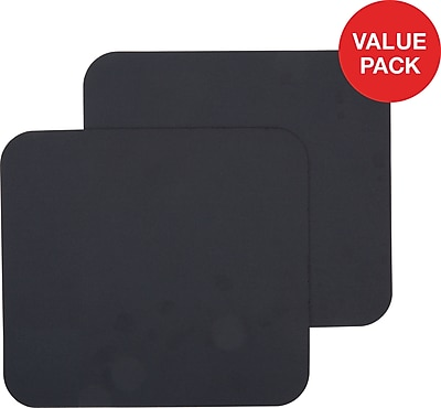 Staples Black Mouse Pad, 2 Count Value Pack