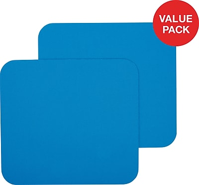 Staples Mouse Pads, Blue, 2/Pack (50679)