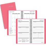 """2017-2018 Staples® 3 1/2"""" x 6 3/8"""" Pocket Academic Weekly/Monthly Planner,14 Months, Coral Red (25504-17)"""