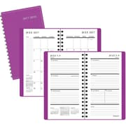 "2017-2018 Staples® 3 1/2"" x 6 3/8"" Pocket Academic Weekly/Monthly Planner,14 Months, Purple (25503-17)"