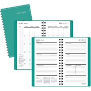 "2017-2018 Staples® 3 1/2"" x 6 3/8"" Pocket Academic Weekly/Monthly Planner,14 Months, Teal (25502-17)"