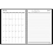 """2017-2018 Staples® 8"""" x 11"""" Large Academic Weekly/Monthly Planner,14 Months, Black (23572-17)"""
