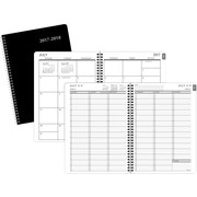 "2017-2018 Staples® 8"" x 11"" Large Academic Weekly/Monthly Appointment Book/Planner,14 Months, Black (25499-17)"