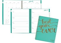 2017-2018 AT-A-GLANCE® 8 1/2' x 11' Aspire Academic Weekly/Monthly Planner, 12 Months, Mint Blue (1022-905A-42-18)