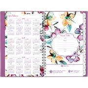 "2017-2018 AT-A-GLANCE® 4 7/8"" x 8"" June Academic Weekly/Monthly Planner, 12 Months, Purple (1012-200A-59-18)"