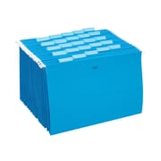 Staples® Colored Hanging File Folders, 5-Tab, Legal, Blue, 25/Box (163956)