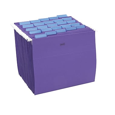staples colored hanging file folders letter 5 tab purple 25 - Hanging File Box