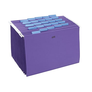 Staples® Colored Hanging File Folders, 5-Tab, Legal, Purple, 25/Box (419218)