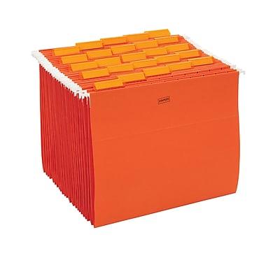 Staples® Colored Hanging File Folders, 5-Tab, Letter, Orange, 25/Box (435032)