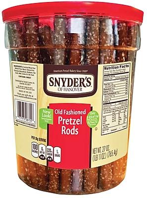 Snyder's of Hanover Pretzel Rods, 27oz Canister