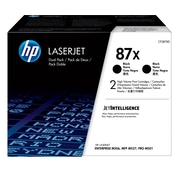 HP 87X Black Toner Cartridges (CF287XD), High Yield, 2/Pack