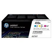 HP 410A Cyan/Magenta/Yellow Toner Cartridges, Standard Yield, 3/Pack (CF251AM)