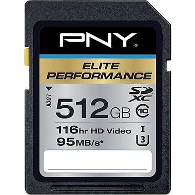 PNY Elite Performance 512GB SDXC Class 10 UHS-I, U3 Up to 95MB/sec