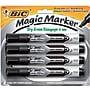 BIC® Magic Marker® Dry-Erase Markers, Tank Style, Black,