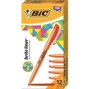 BIC® Brite Liner® Highlighters, Orange, Dozen