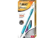 BIC® Velocity® Mechanical Pencils, Teal Barrel, 0.9mm, Dozen