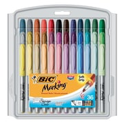 BIC® Mark-it Fine Point Permanent Markers, Assorted, 36/Pack ( GXPMP361-AST)