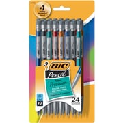BIC® Mechanical Pencils, No. 2.5, .5mm, Assorted, 24/Pack (MPLMFP241-BLK)