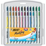 BIC® Mark-it® Ultra Fine Point Permanent Markers, Assorted, 36/Pack