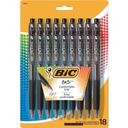 BIC® BU3 Retractable Ballpoint Pens, Medium 1.0mm, Black, 18/Pack