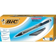 BIC® Intensity Permanent Pens, Fine Point, Blue, Dozen