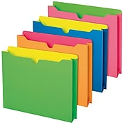 Pendaflex Glow Twisted File Jackets, Letter Size, Assorted, 10/Pack (49501)