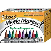 BIC Intensity Advanced Dry Erase Marker, Tank Style, Chisel Tip, Assorted Colors, 24/Pack (GELITP241AST)