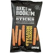 Baked In Brooklyn Snack Sticks, Honey Mustard, 8 oz, 12/Ct
