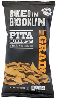 Baked In Brooklyn Multi Grain Pita Chips, 8 oz, 12 ct