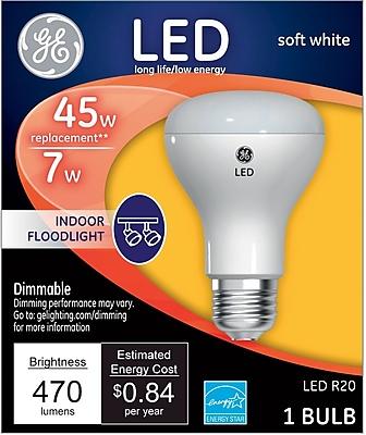 GE LED 7 Watt Soft White R20 (34304)