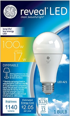 GE LED 17 Watt Reveal® A21 (45658)