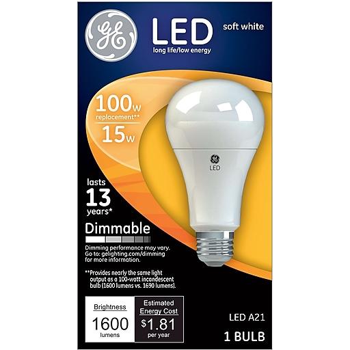 GE LED 15 Watt Soft White A21 (65935)