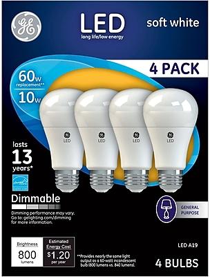 GE LED 10 Watt Soft White A19 (67615)