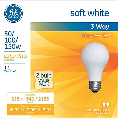 GE Incandescent 50-100-150 Watt 3-Way Bulb (97763)