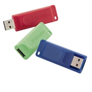 Verbatim 3PK Store n Go USB 2.0 Flash Drive 16GB Red, Green, Blue