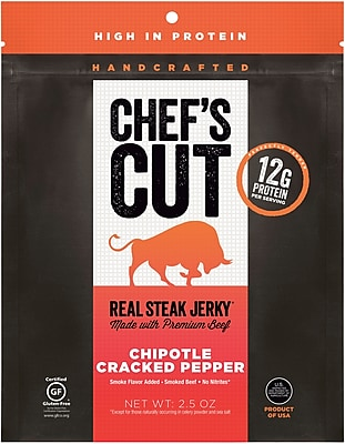 Chef's Cut, Chipotle Pepper Steak Jerky, 2.5 oz.