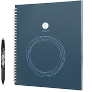 "Rocketbook Wave 1 Subject Notebook, Unruled, 9.5"" x 8.5"", Blue"