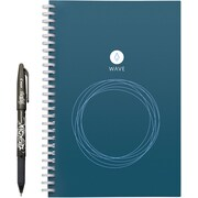"Rocketbook Wave, Cloud-connected, Reusable Notebook, Executive Size, 8.9"" x 6"", Blue (8138614)"