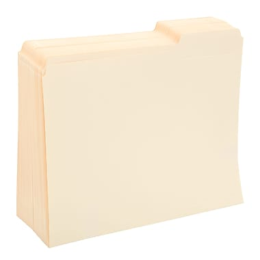 Staples File Folders, 3-Tab Right Position, Letter, Manila, 100/Box (116822)