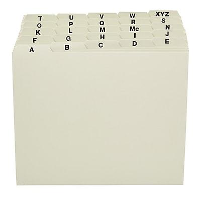 Staples® Pressboard A-Z Filing Guide, Letter Size, Green
