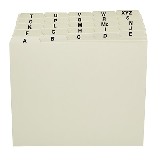 staples pressboard a z filing guide letter size staples