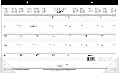20172018 Staples 17 34 x 10 78 Compact Academic Monthly Desk
