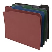 Staples® Assorted Colors Reinforced File Folders, 5-Tab, Letter Size, 50/Pack