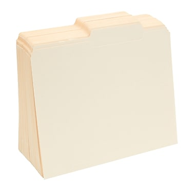 Staples® Guide-Height Manila File Folders, Letter, Right of Center, 100/Box