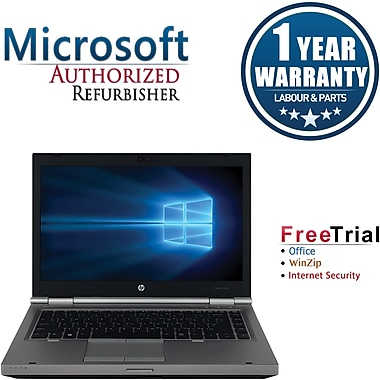 Refurbished HP EliteBook 8470P 14in Notebook Intel Core i5 2.6Ghz 8GB RAM 1TB Hard Drive Windows 10 Pro
