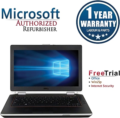 Refurbished Dell Latitude E6420 14in Notebook Intel Core i5 2.5Ghz 8GB RAM 250GB SSD Windows 10 Pro