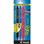 Pilot FriXion Ball Clicker Erasable Gel Pens, Fine Point, Assorted, 3/Pack (31467)