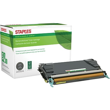 Staples® Remanufactured Color Laser Toner Cartridge, Lexmark C5240 (C5222YS/C5242YH), Yellow, High Yield