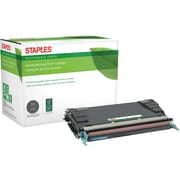 Staples® Remanufactured Color Laser Toner Cartridge, Lexmark C5240 (C5222CS/C5242CH), Cyan, High Yield